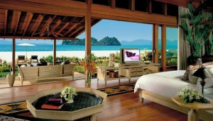 Stunning view from Four Seasons resort in Langkawi, Malaysia