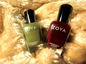 Zoya nail polish colors Yara and Anja