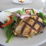 Grilled chicken on leafy green salad. Yummy!!!