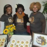 Jeannell Darden of CoCo Curls (center) with the girls