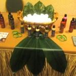 Kynx Hair Care with their cute tropical themed setup