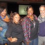 Nikka Shae with Alisha Nesbitt of Enchanted Events, Tami Reed of Talking with Tami, and E Vincent Martinez of Fashionado