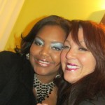 Nikka Shae with GlitzyLips creator and Rockstar Goddess Athena Elliott