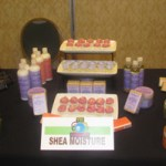 Shea Moisture with their wonderful product display and delicious cupcakes