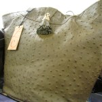 This Z Spoke Ostrich skin bag is too fab!