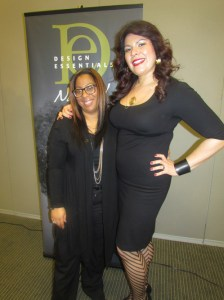 Brownie of The Brownie Brushes (l) along with the fabulous Rebecca Mariolis, Director of Education at Design Essentials (r)