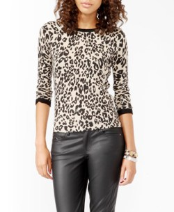 Forever 21 - Fitted Animal Patterned Sweater