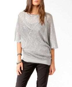Forever 21 - Sequined Asymmetrical Sweater