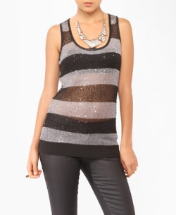 Forever 21 - Sequined Striped Sweater Tunic