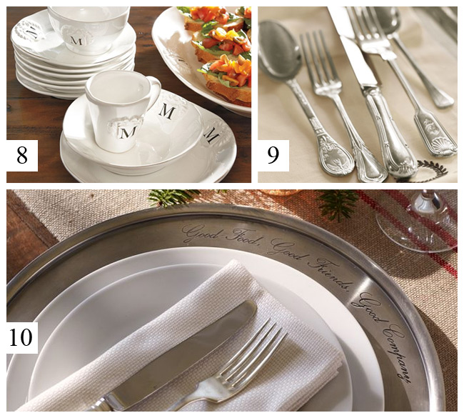 Pottery Barn - Italian White Dinnerware, Sheffield Silver Plated Flatware, Antique Silver Chargers