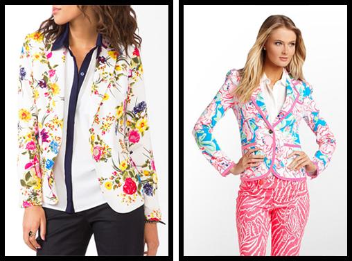 Floral Print Blazer & Malibu Blazer