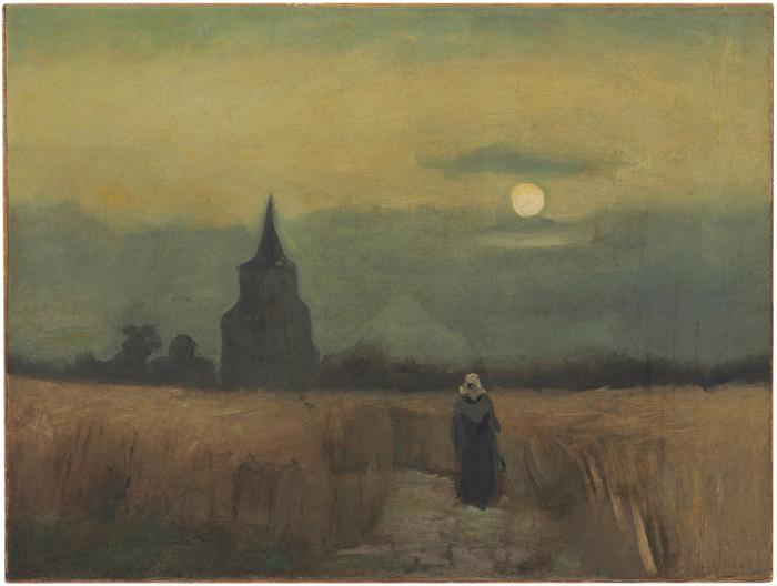 Vincent van Gogh - Oude Toren Bij Zonsondergang