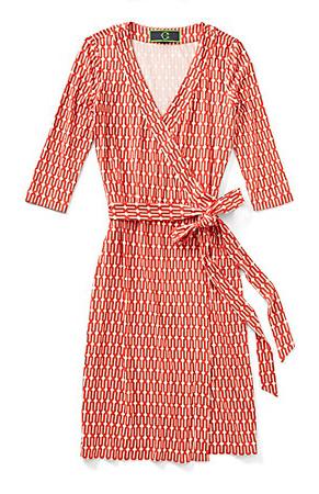 C Wonder Harbor Tile Print Wrap Dress