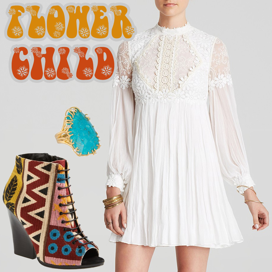 1960's Retro Looks for Fall - Flower Child
