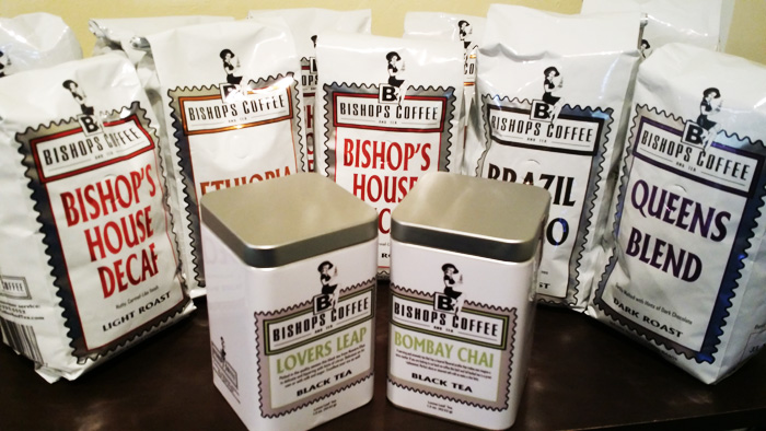 Bishops Coffee and Tea blends