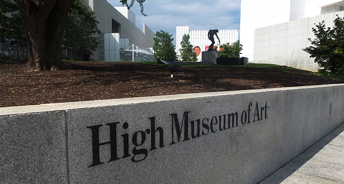 The High Museum with Macaron Cafe