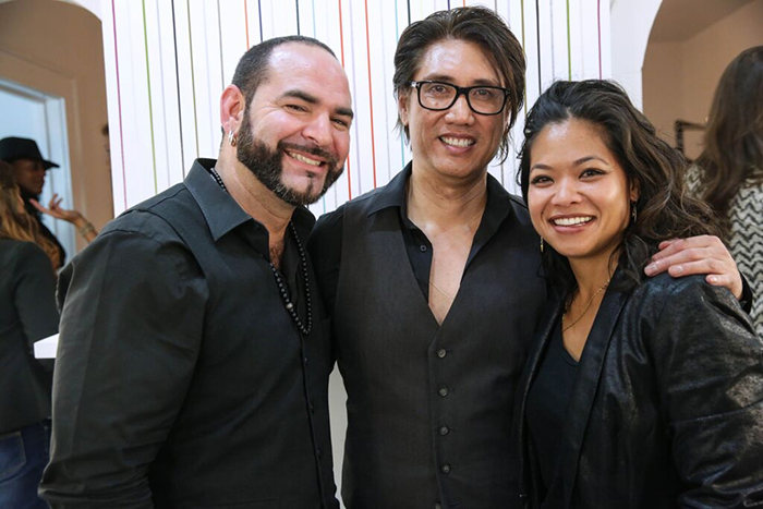 Nate La Fera (Balmain), Max Sanchez (Owner), and Holly Osias (Senior Stylist)