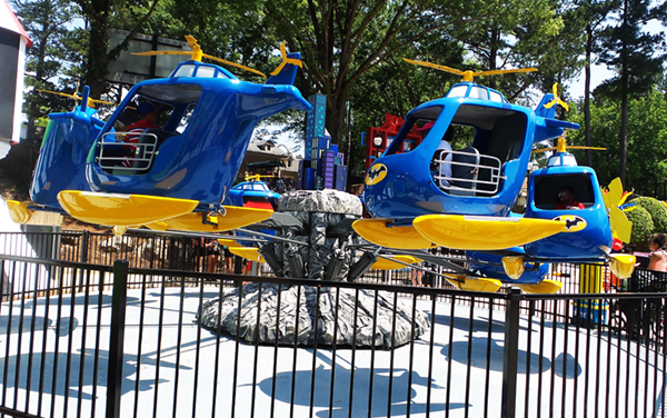 DC Super Friends Six Flags Over Georgia Batcopters