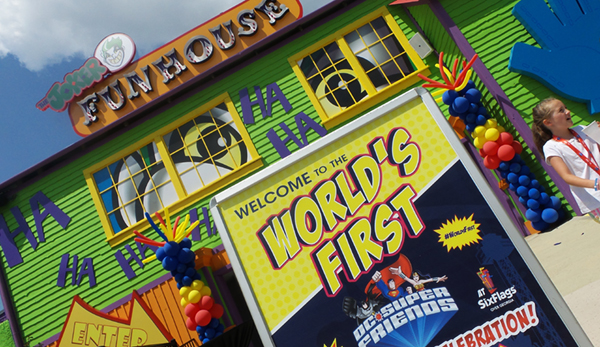 DC Super Friends Six Flags Over Georgia Joker Funhouse Coaster