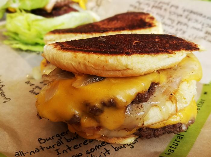 BurgerFi Midtown Grilled Cheese Melt Burger