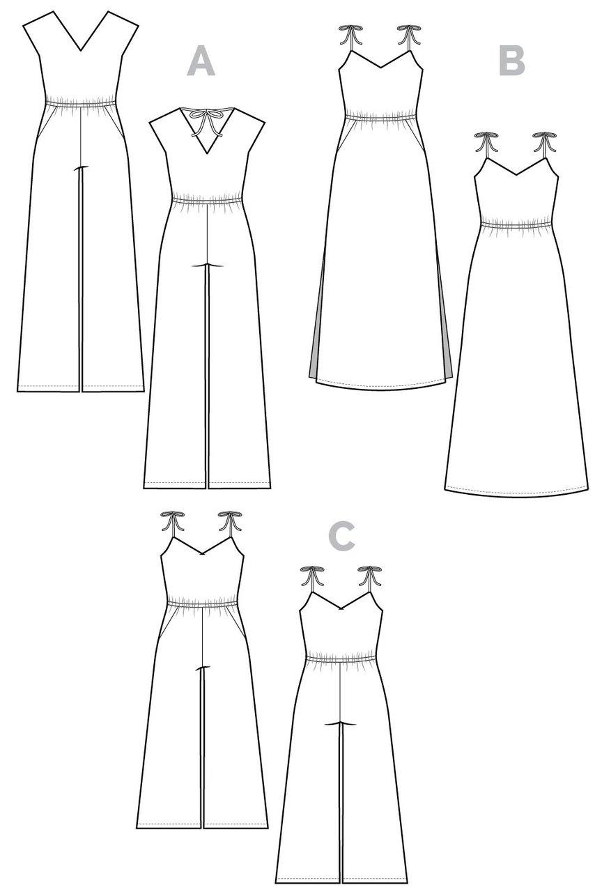 Closet Core Sallie Jumpsuit technical diagrams
