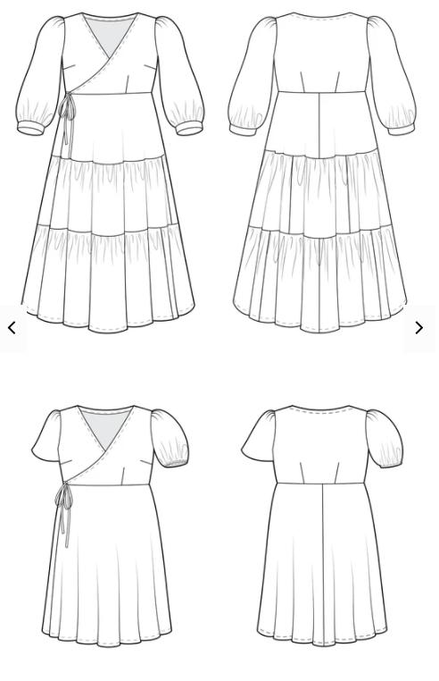 Cashmerette Roseclair Dress - technical diagrams