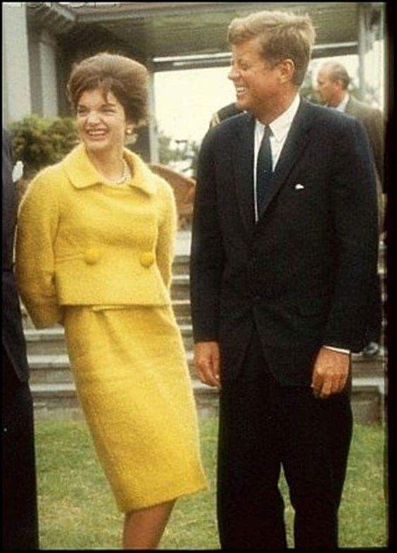 Jackie Kennedy style tips pastel suit