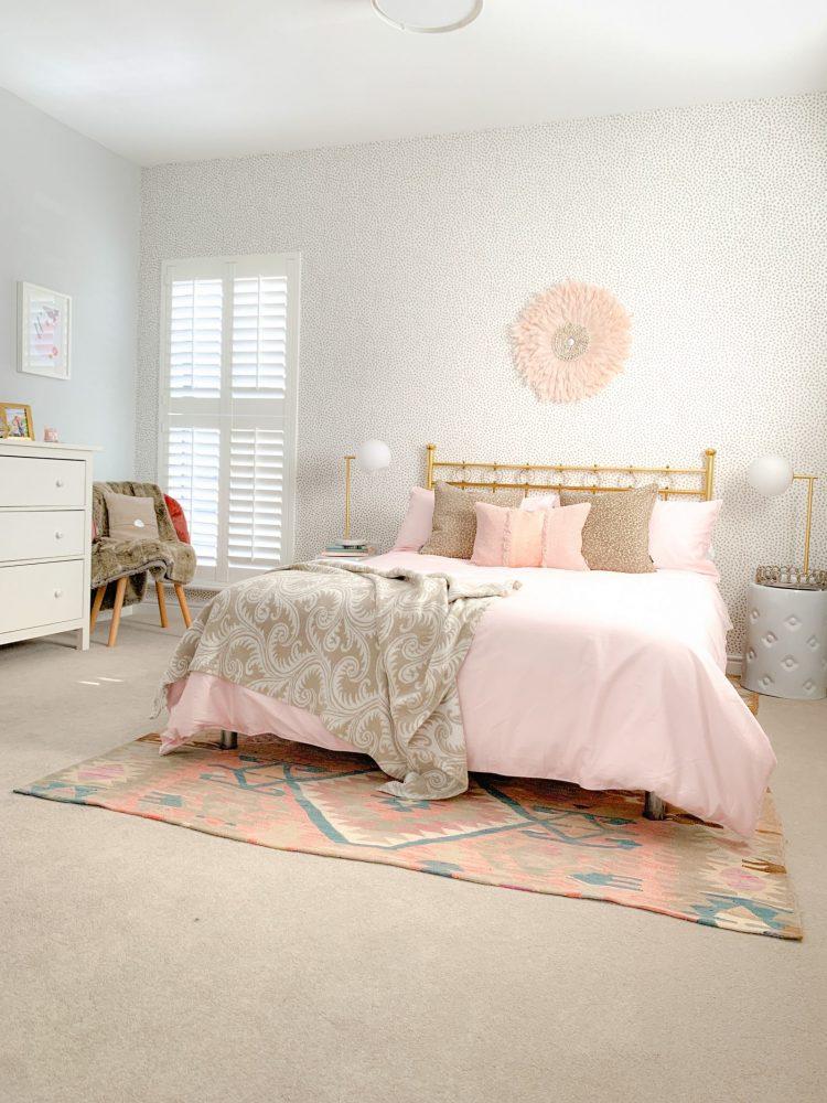 Safari Chic Dotty Guest Bedroom