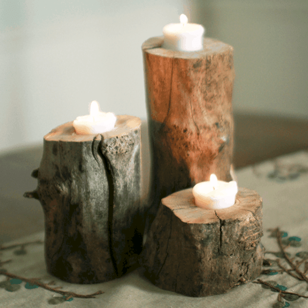 DIY  //   LOG PILLARS
