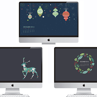 FREEBIES  //  DECEMBER DESKTOP CALENDARS