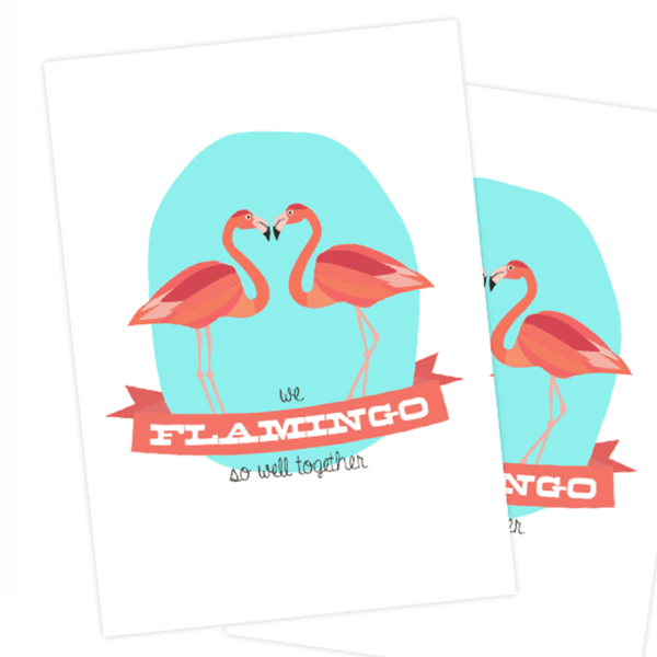 VALENTINE'S DAY // FREE FLAMINGO VALENTINES