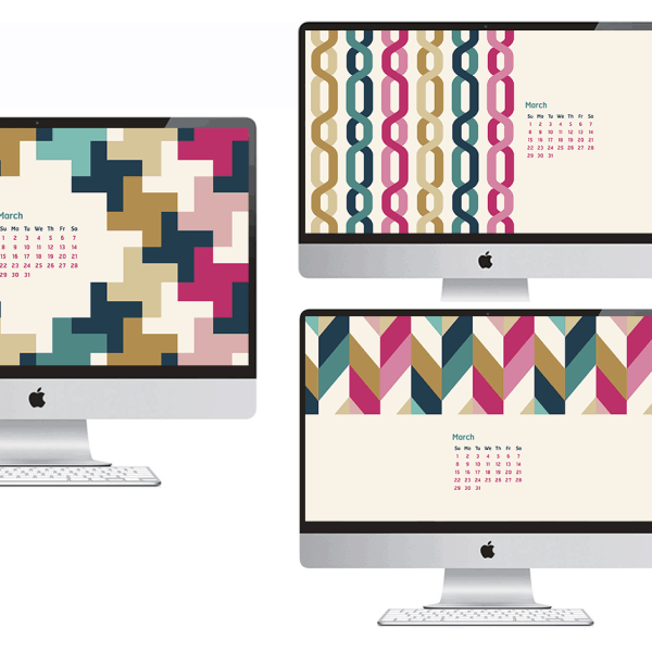 FREEBIES // MARCH DESKTOP CALENDARS