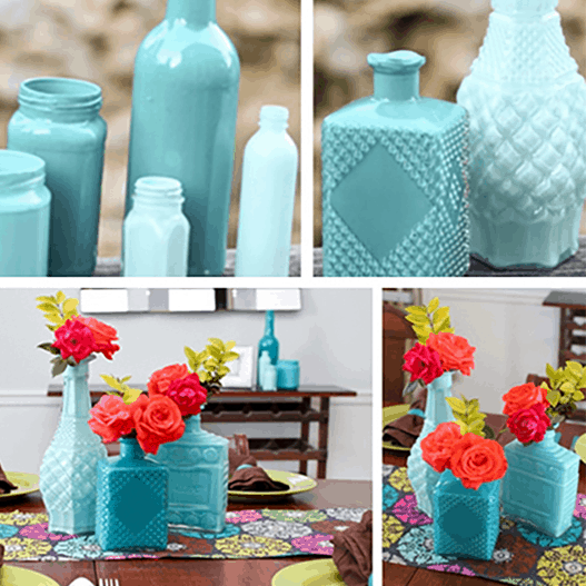 DIY //  GLASS CENTERPIECES