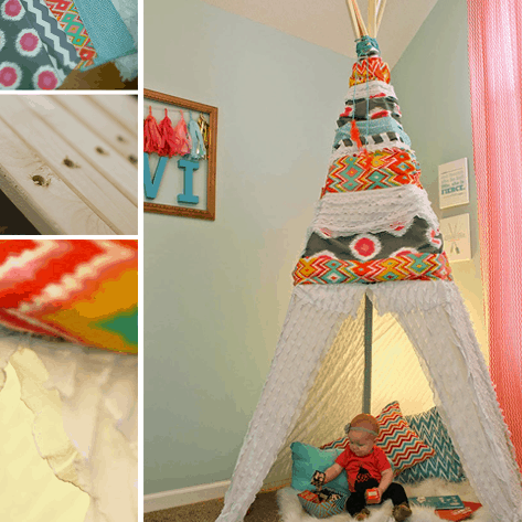 THROWBACK  //  DIY NO-SEW TEEPEE
