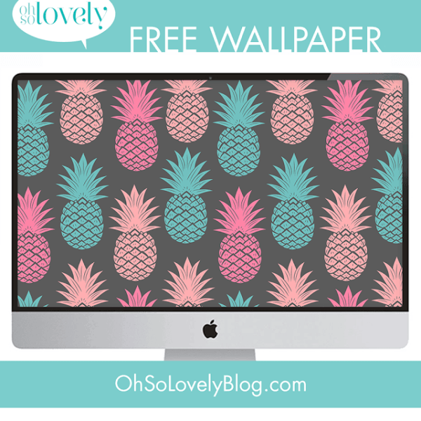 FREEBIES  //  PINEAPPLE DESKTOP WALLPAPERS