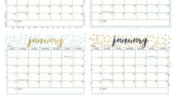 oh so lovely free 2017 printable calendars 20 design options