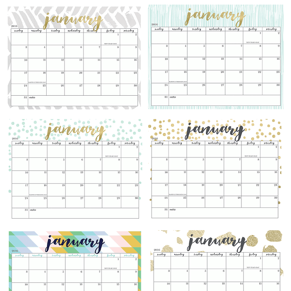 Calendar Girly : Freebies archives page of oh so lovely