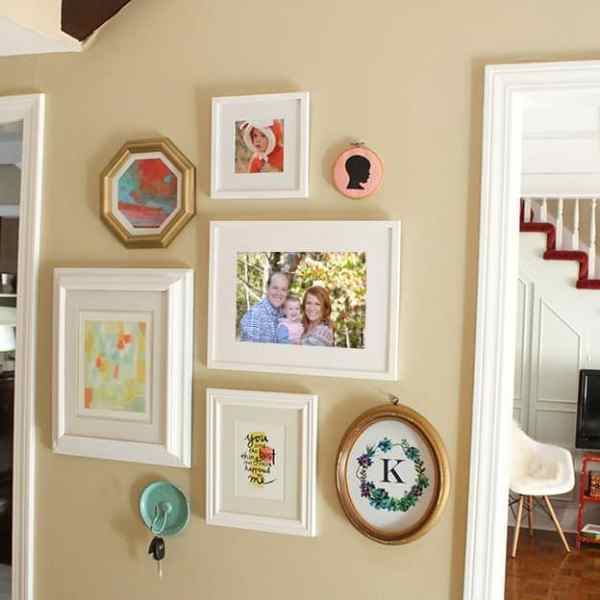 IN PROCESS HOME TOUR  // ENTRY WAY + MINTED GALLERY WALL