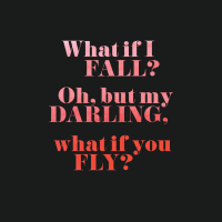 what if you fly? quote free desktop wallpaper