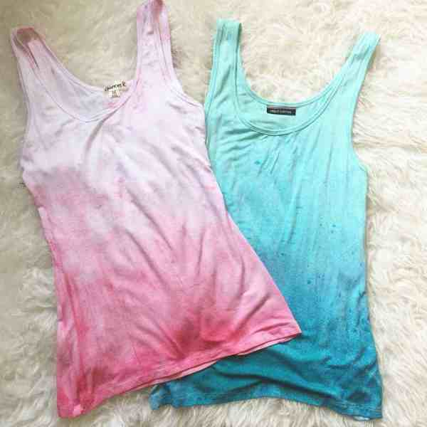 DIY  //  DIP DYED TANK TOP