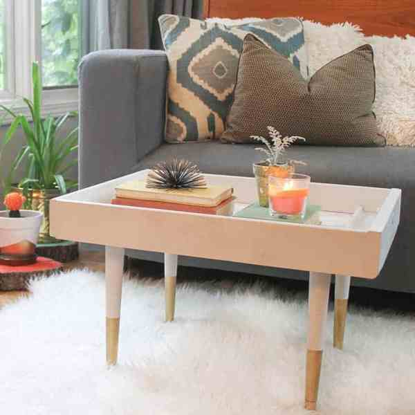 DIY  //  UPCYCLED DRAWER TO MODERN COFFEE TABLE