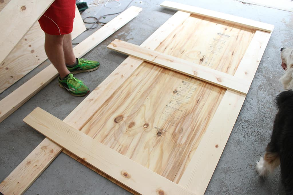How to build your own DIY sliding barn door tutorial