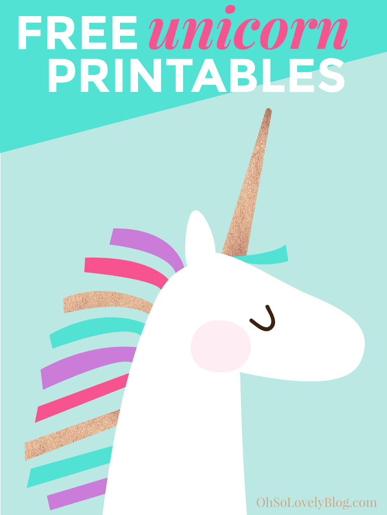 Free Unicorn Printables