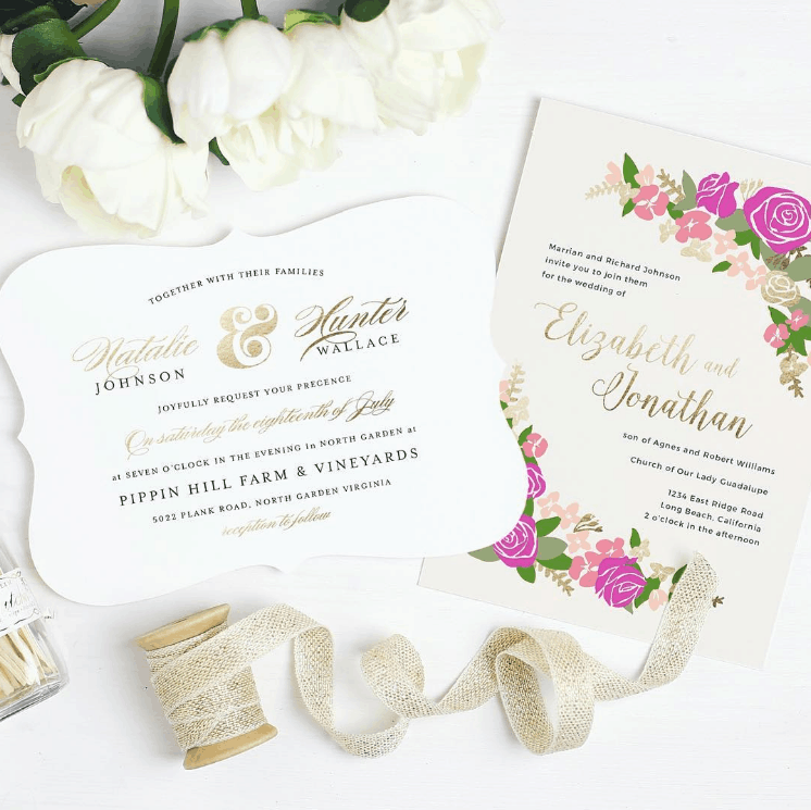 Basic Invite Custom Stationery Shop