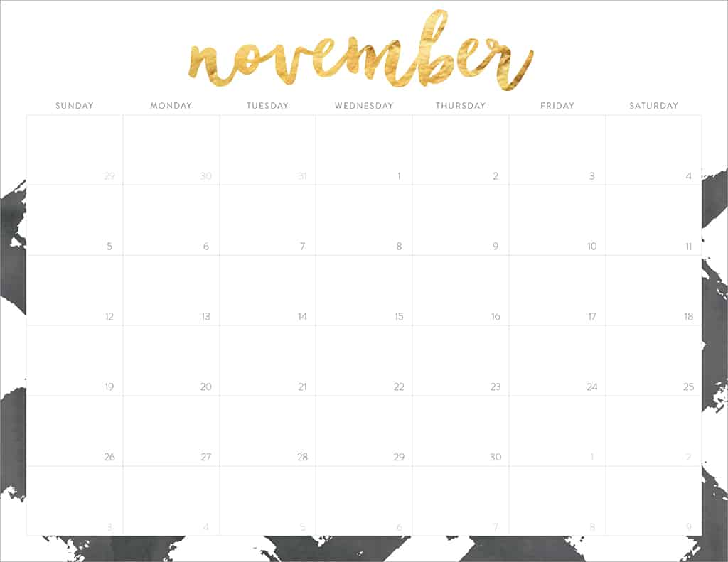Oh So Lovely FREE 2017 printable calendars - 20+ design options