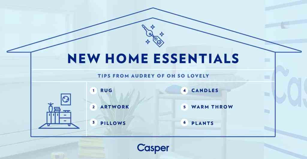 Six essentials welcoming home