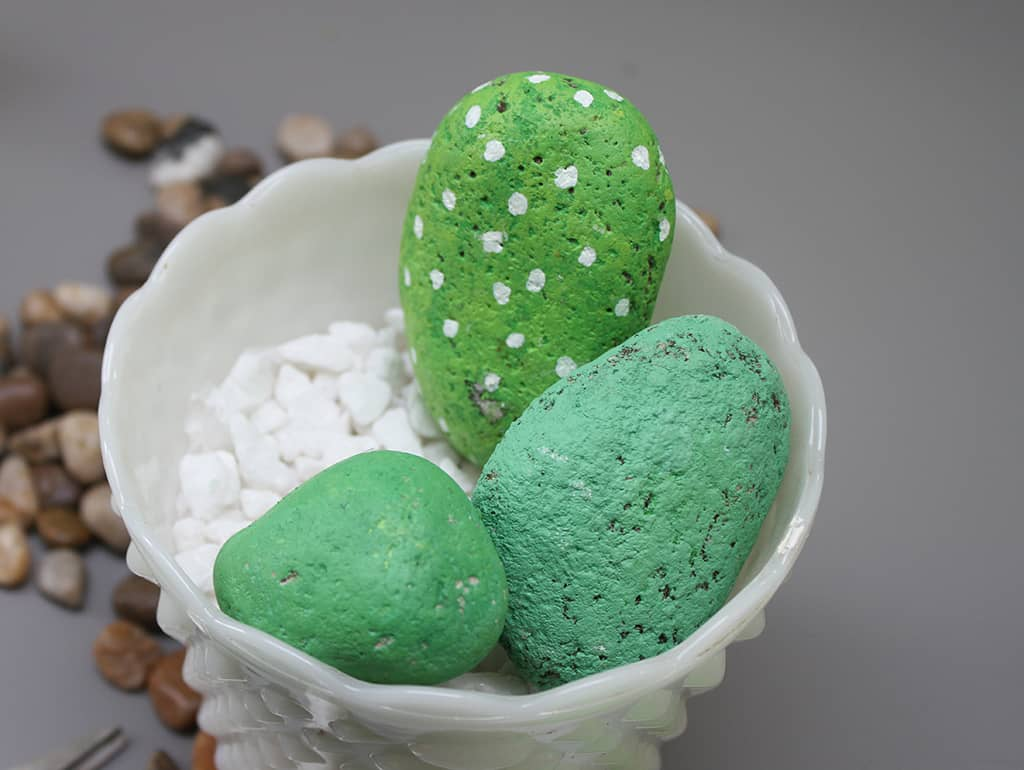 DIY rock cactus tutorial