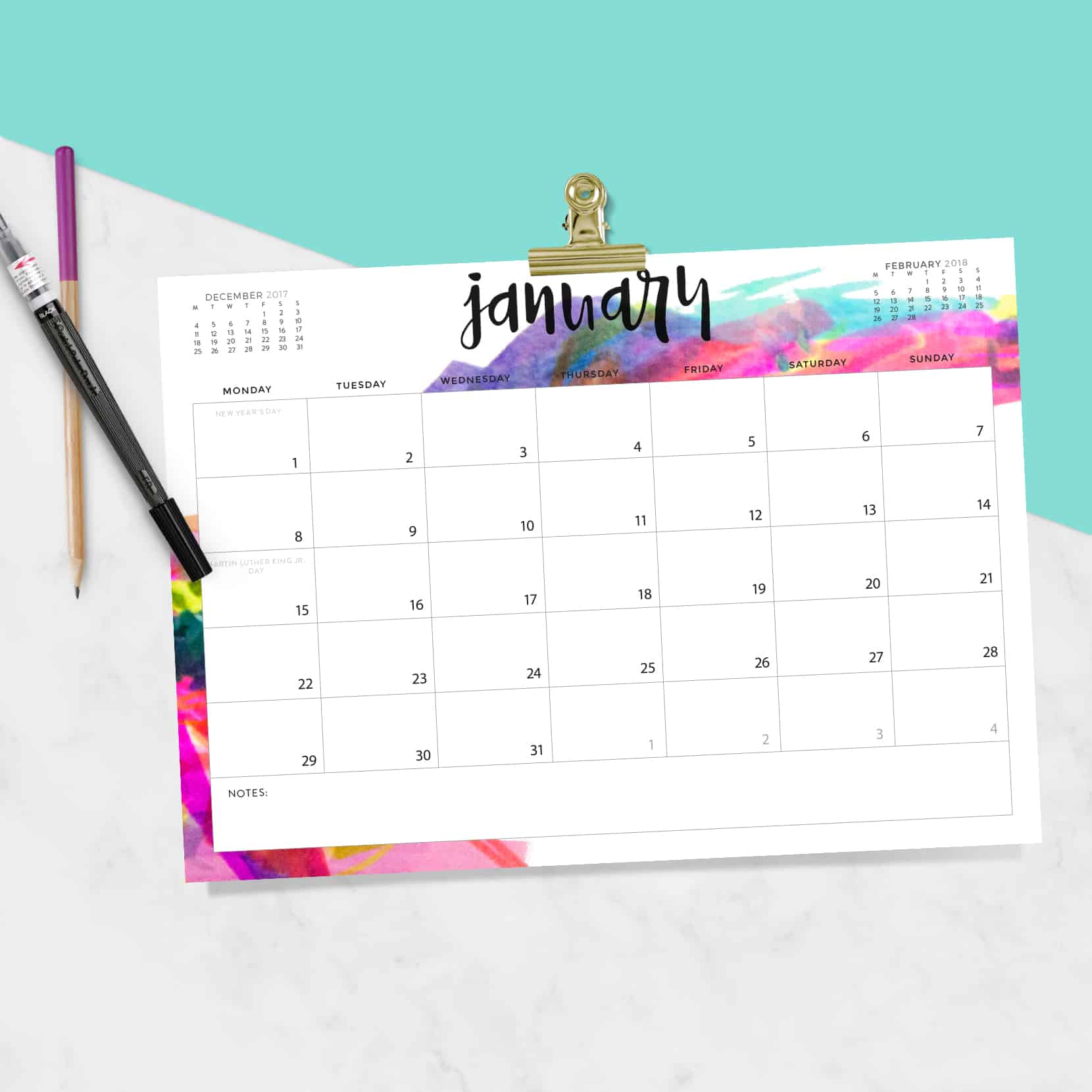 Download Your FREE 2018 Printable Calendar Today! There Are 28 Designs To  Choose From In