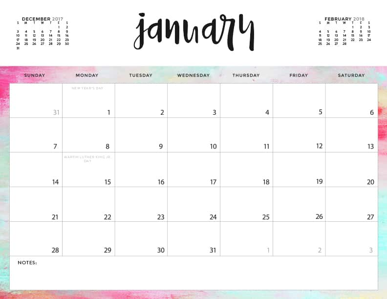 download your free 2018 printable calendars today there are 20 designs to choose from in