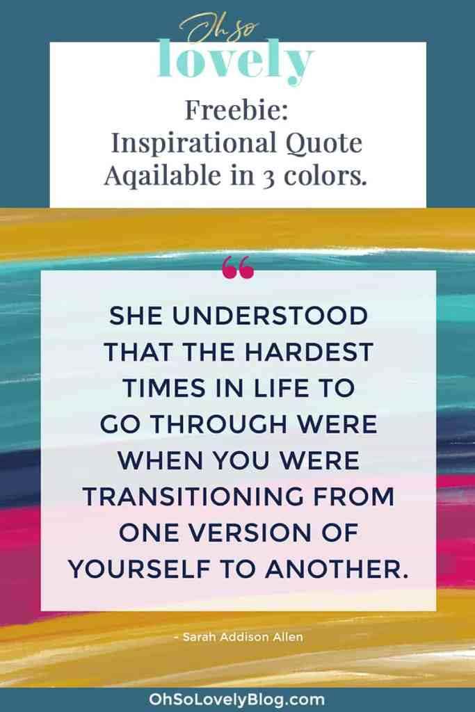 Oh So Lovely Blog shares a colorful and FREE inspirational quote printable.